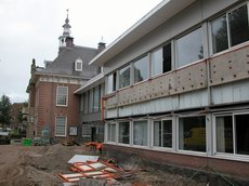 Gemeentehuis Heemstede tijdens de verbouwing