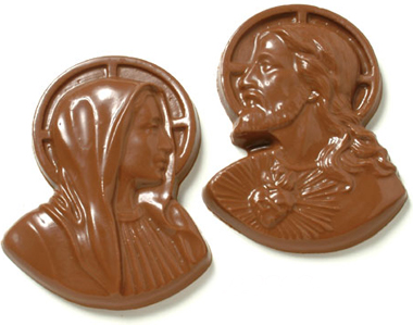 Chocolade Jezus en Chocolade Maria
