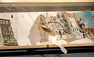 De vernielde vitrine